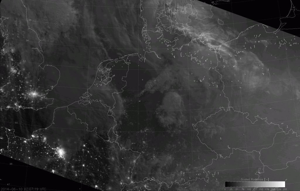 VIIRS Day/Night Band image, taken 02:07 UTC 10 June 2014