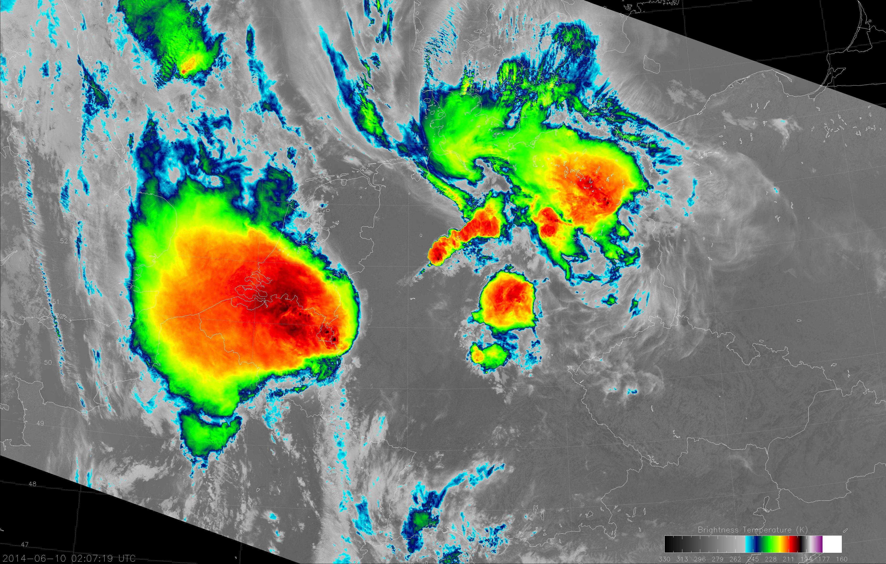 VIIRS I-5 image from 02:07 UTC 10 June 2014