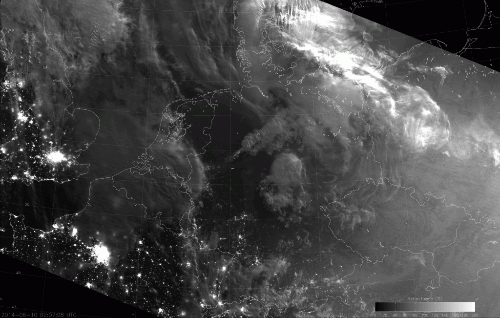 VIIRS NCC image, taken at 02:07 UTC 10 June 2014