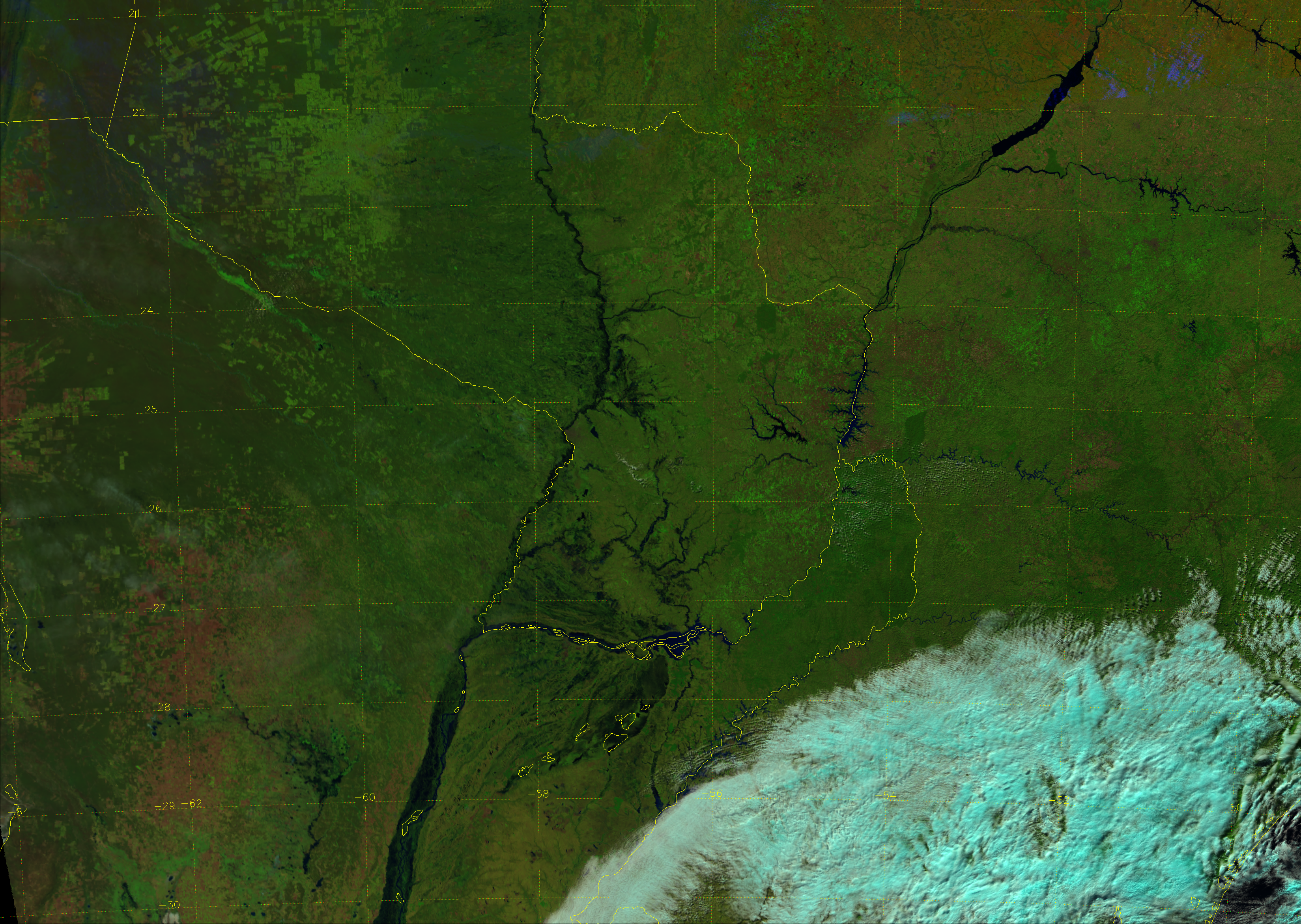 "VIIRS ""Natural Color"" image, taken 17:03 UTC 30 June 2014"