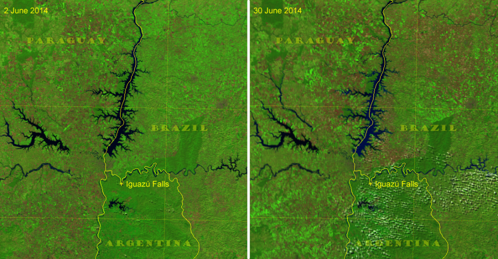 "VIIRS ""Natural Color"" images of Itaipu Reservoir, June 2014"