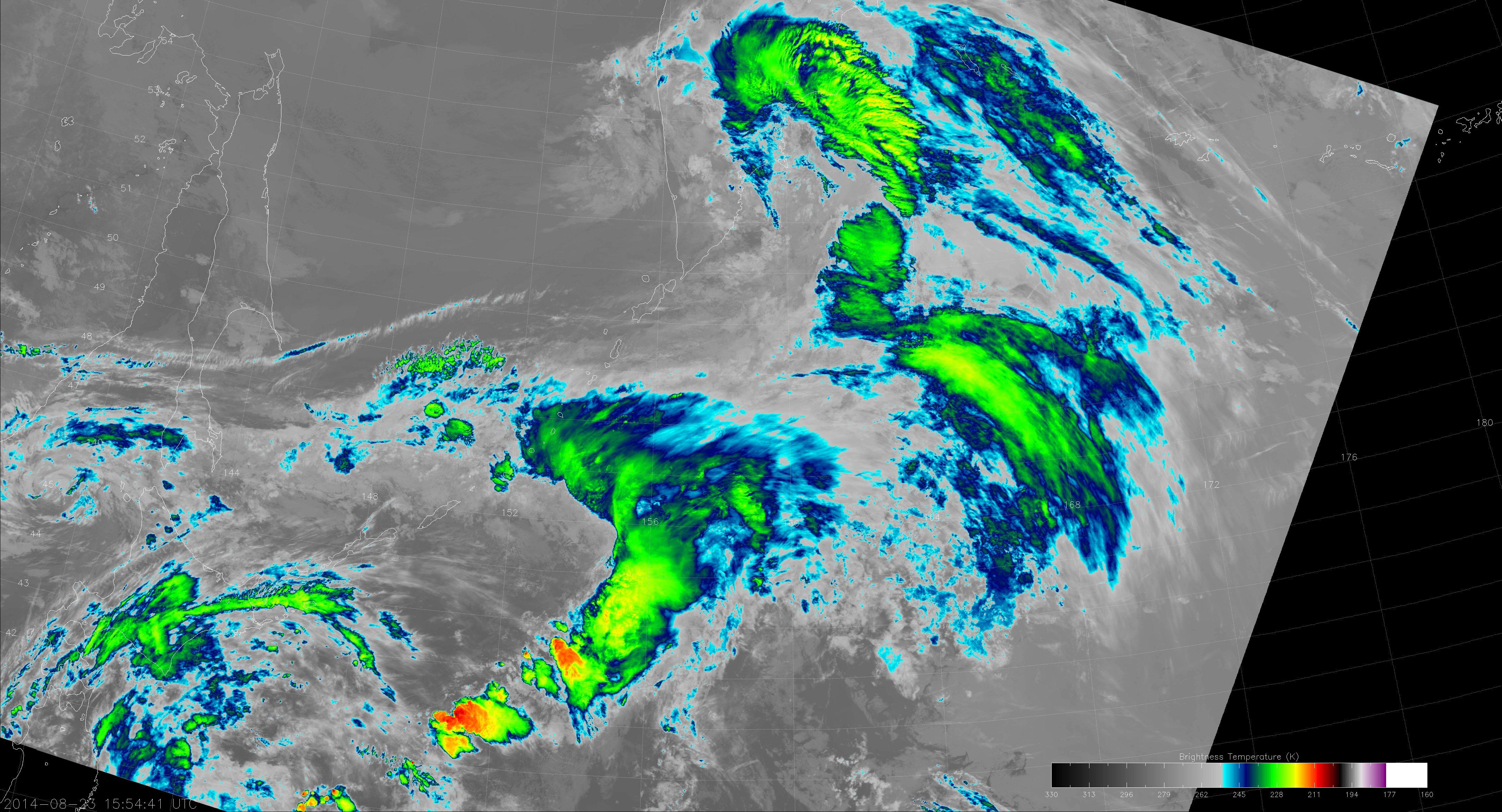 VIIRS M-15 image from 15:54 UTC 23 August 2014