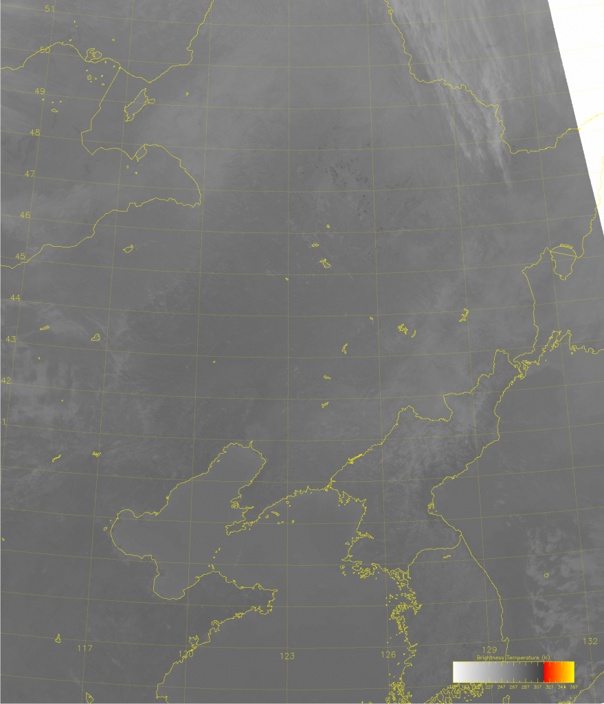 VIIRS M-13 image of northeastern China, taken 04:48 UTC 18 November 2014