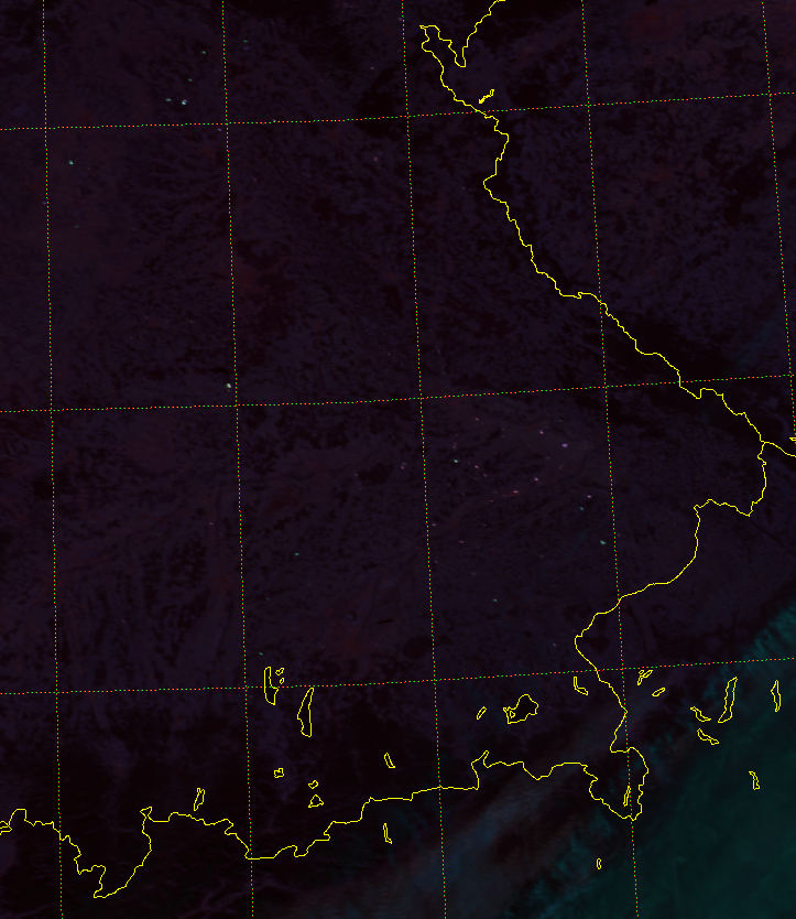 VIIRS Fire Temperature RGB (11:54 UTC 9 March 2015)