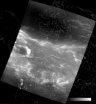 VIIRS DNB image of the aurora borealis, 09:37 UTC 17 March 2015