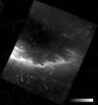 VIIRS DNB image of the aurora borealis, 19:45 UTC 17 March 2015