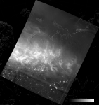VIIRS DNB image of the aurora borealis, 21:26 UTC 17 March 2015