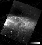 VIIRS DNB image of the aurora borealis, 23:08 UTC 17 March 2015