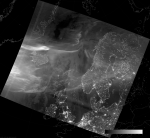VIIRS DNB image of the aurora borealis, 02:33 UTC 18 March 2015