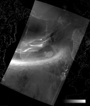 VIIRS DNB image of the aurora borealis, 04:11 UTC 18 March 2015