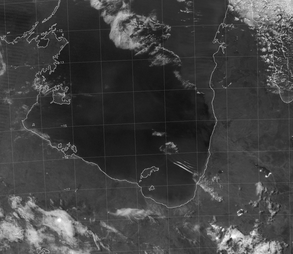 VIIRS DNB image of the Gulf of Carpentaria (15:24 UTC 26 October 2015)