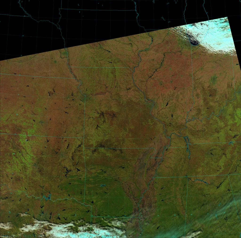 VIIRS Natural Color RGB composite of channels I-1, I-2, and I-3 (19:02 UTC 13 November 2015)