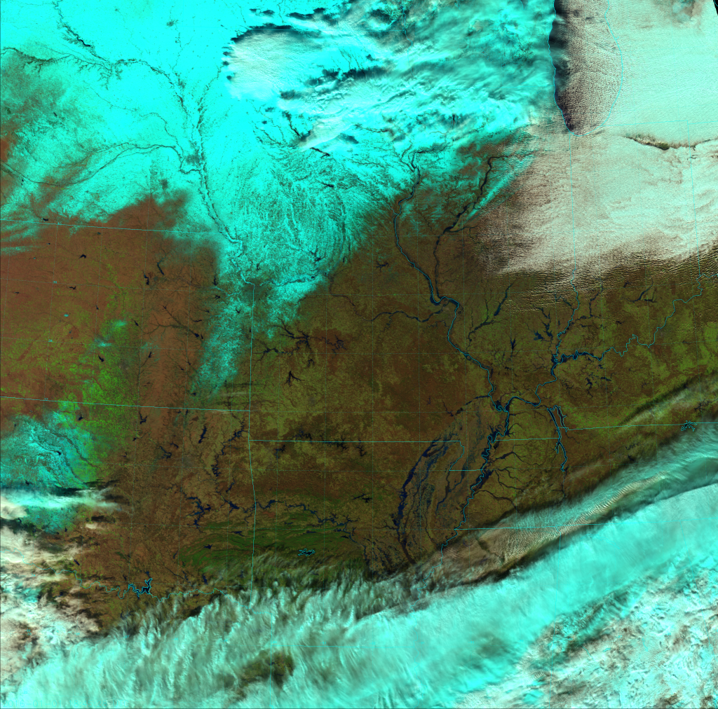 VIIRS Natural Color RGB composite of channels I-1, I-2, and I-3 (18:45 UTC 1 January 2016)