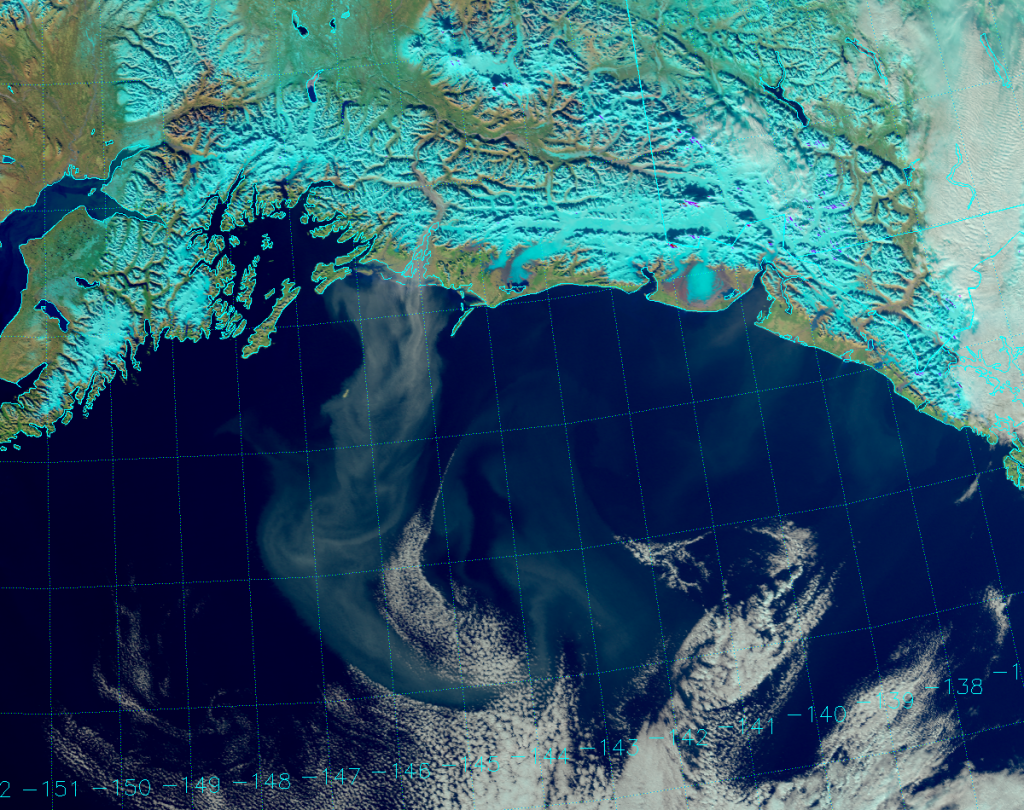 VIIRS Natural Color RGB composite of channels I-1, I-2 and I-3 (22:42 UTC 24 October 2016)