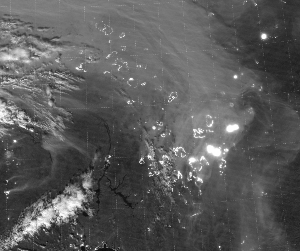 VIIRS Day/Night Band image (19:11 UTC 18 September 2016)