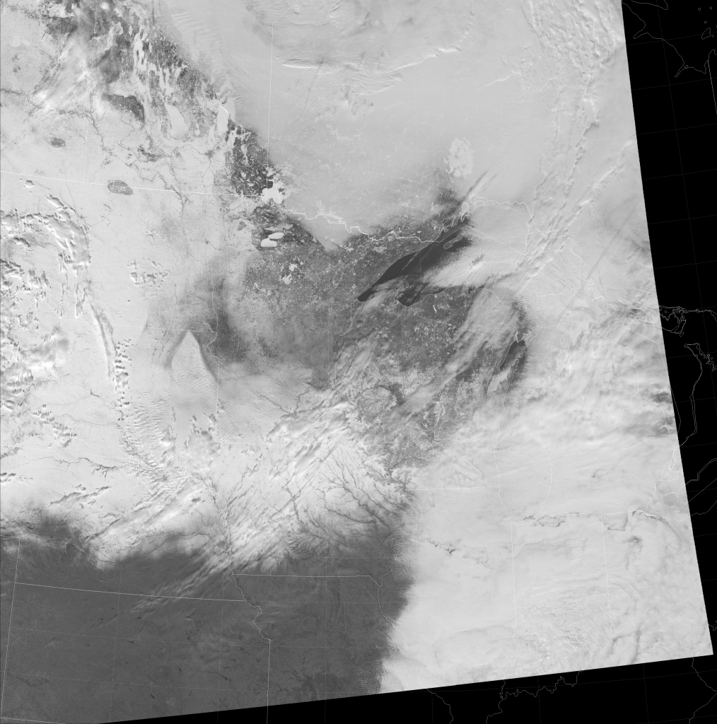 VIIRS high-resolution visible (I-1) image, taken 19:35 UTC 27 January 2017