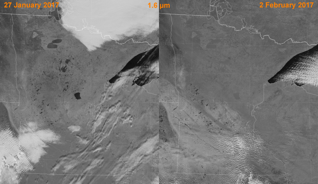 Comparison of VIIRS high-resolution near-IR (I-3) images