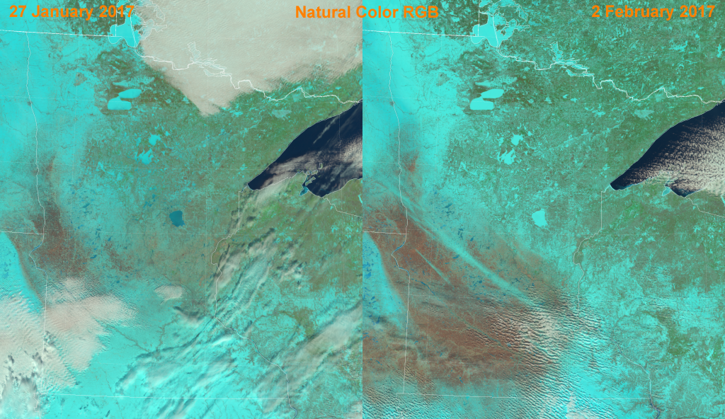 Comparison of VIIRS Natural Color RGB composites