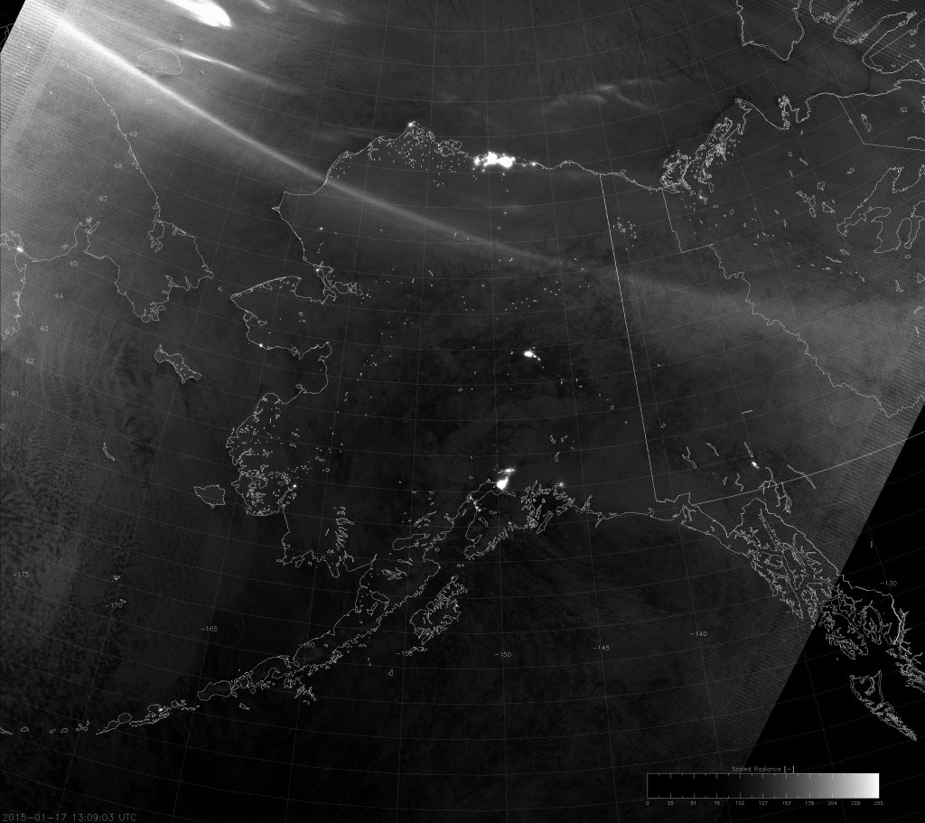 VIIRS Day/Night Band image (13:09 UTC 17 January 2015)