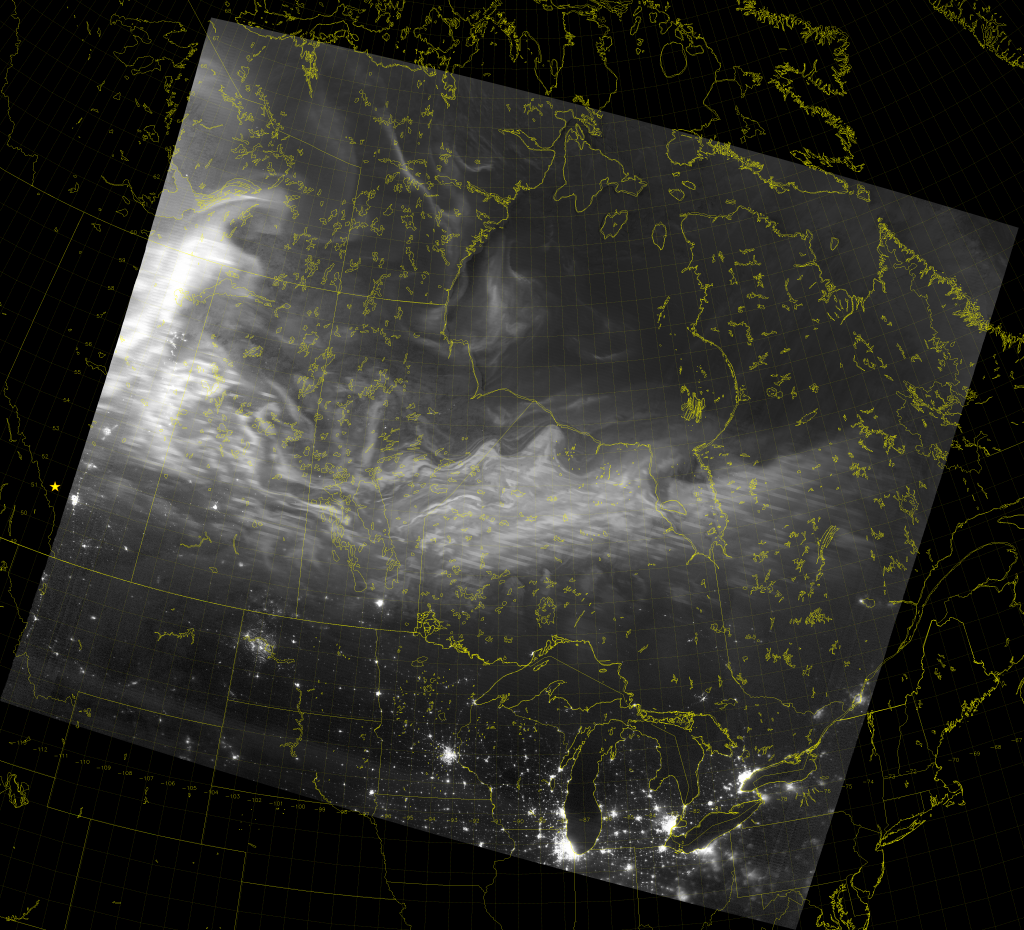 VIIRS Day/Night Band image (08:12 UTC 22 April 2017)