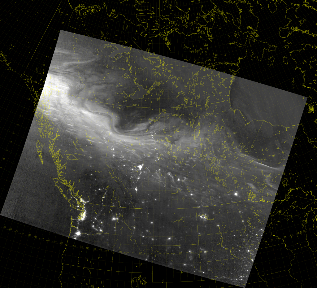 VIIRS Day/Night Band image (09:34 UTC 23 April 2017)