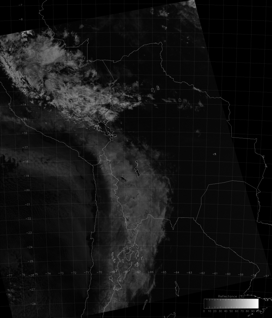 S-NPP VIIRS channel M-9 image from 18:32 UTC, 1 June 2017