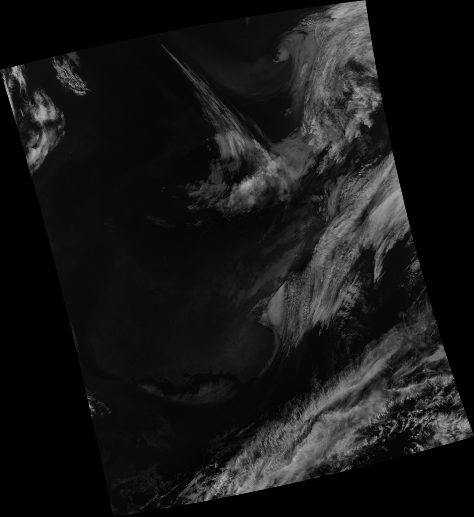 "S-NPP VIIRS channel M-9 (""cirrus band"") image from 18:34 UTC, 17 January 2018"