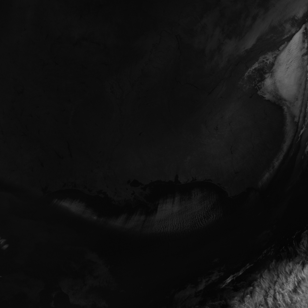 S-NPP VIIRS channel M-9 image from 18:34 UTC, 17 January 2018