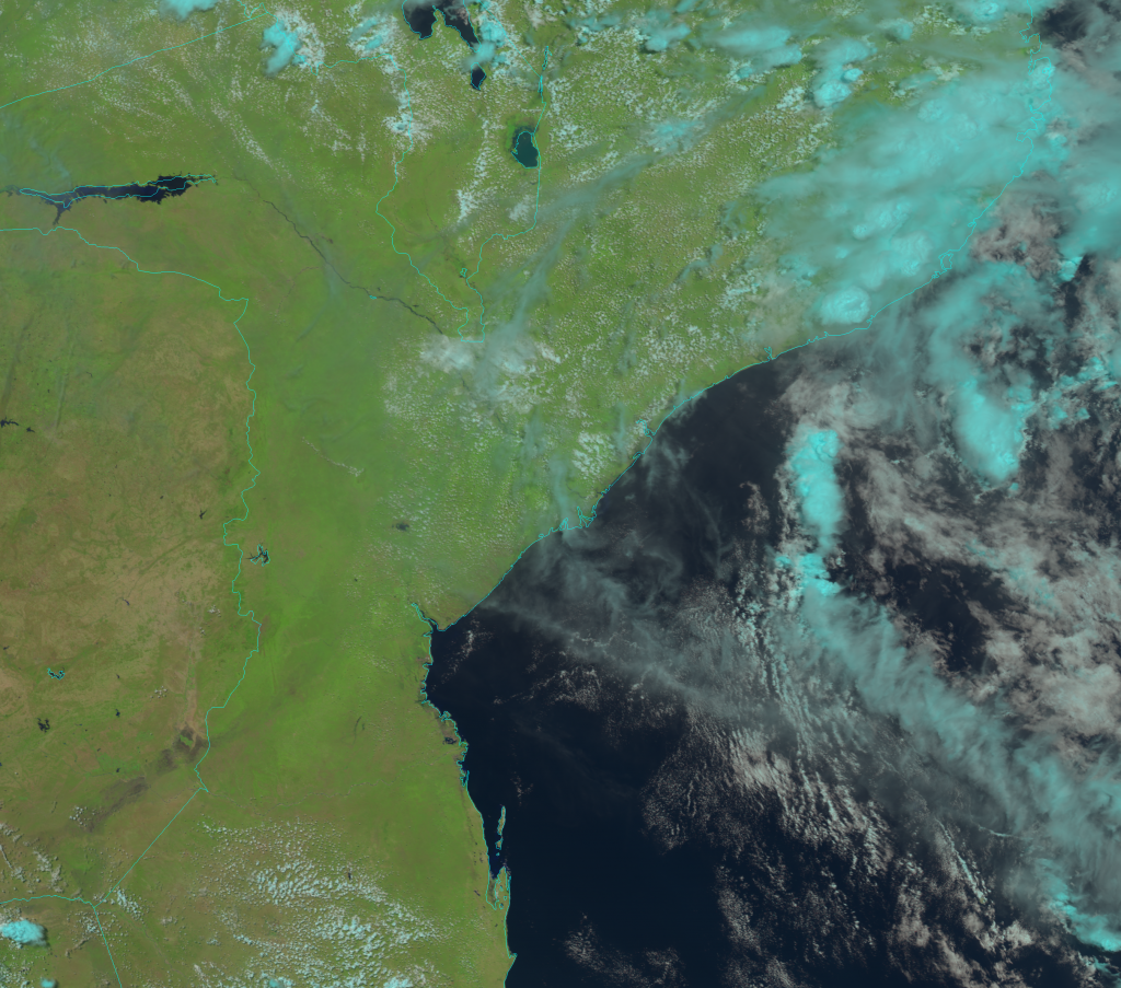 NOAA-20 VIIRS Natural Color RGB composite image (11:32 UTC, 1 March 2019)