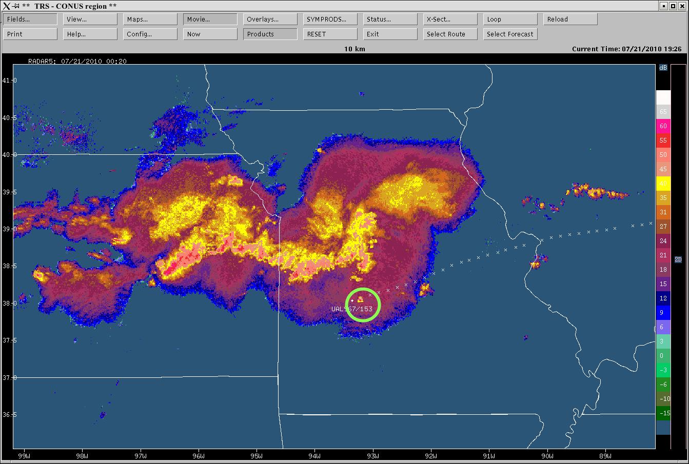 Radar Aircraft Location