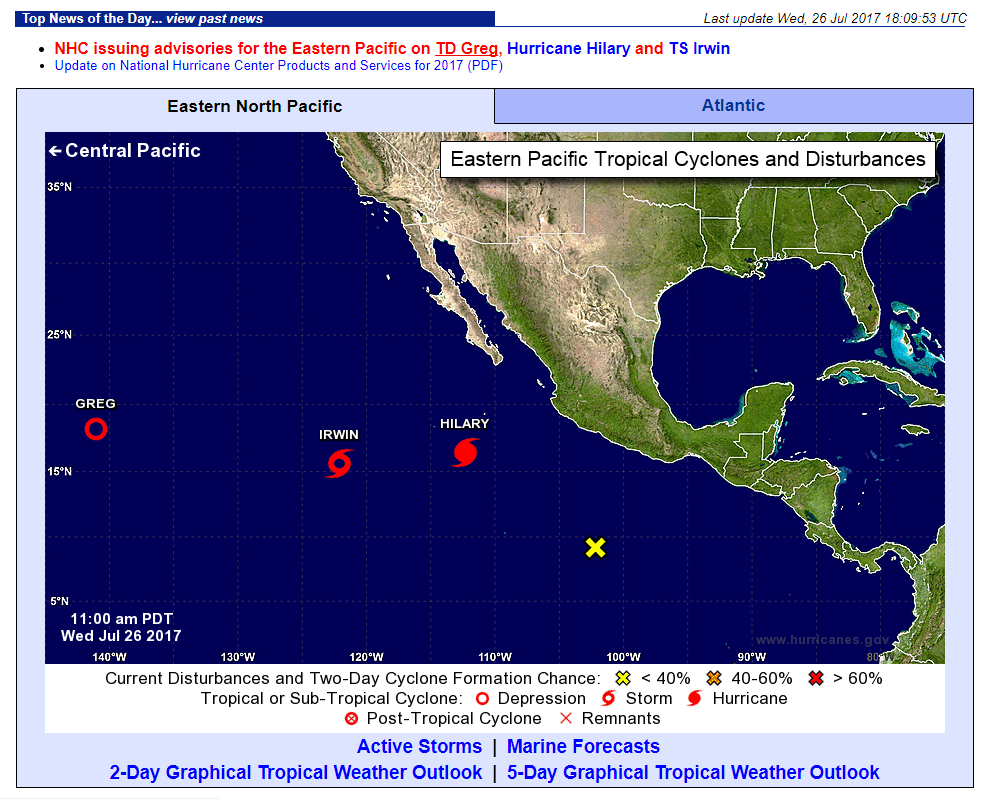 Tropical Activity in the East Pacific | VISIT