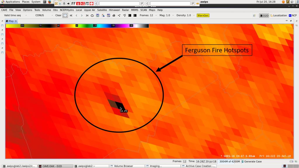 Ferguson Fire California Map.Ferguson Fire Ca Visit Meteorological Interpretation Blog